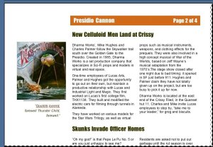 New Celluloid Men Land at Crissy